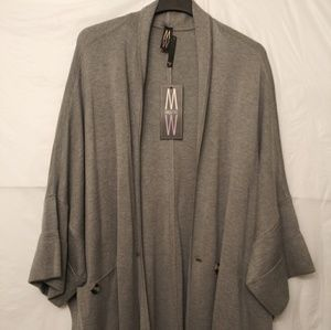 Marla Wynne Drama Knit Kimono Topper